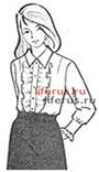 Блузка с нагрудной вытачкой и вшивным рукавом